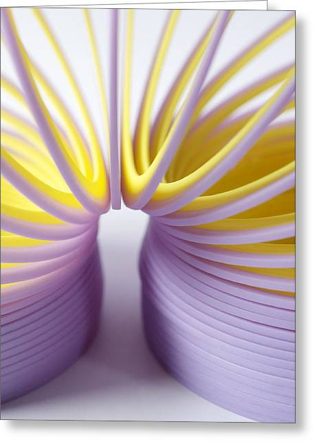 Purple Spring Greeting Card by Kenneth Feliciano