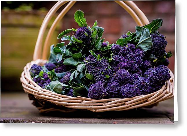 Purple Sprouting Broccoli Greeting Card by Aberration Films Ltd