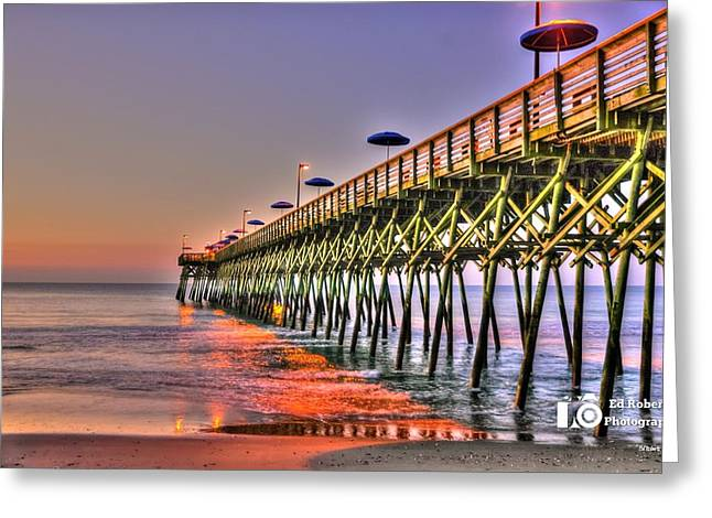 Purple Sunrise Greeting Card by Ed Roberts