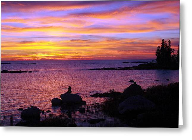 Purple Sunset 2 Greeting Card