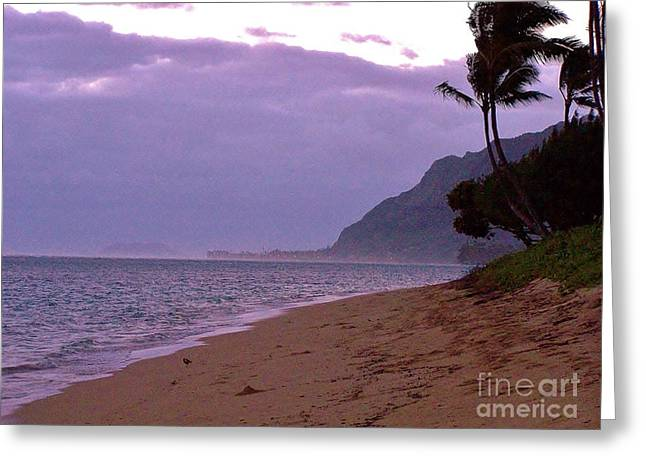 Purple Sunset After The Storm Greeting Card by Brigitte Emme
