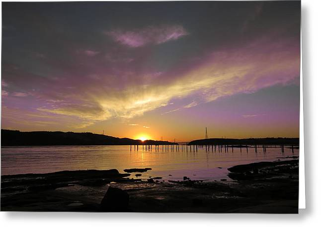 Purple Sunset Greeting Card by Brian Maloney