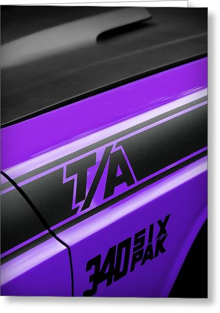 Purple Ta Greeting Card by Gordon Dean II