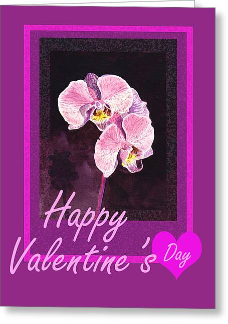 Purple Valentine Greeting Card by Irina Sztukowski