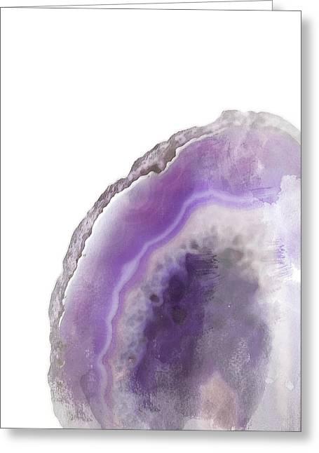 Purple Watercolor Agate Greeting Card
