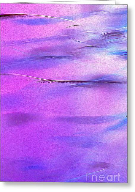 Purple Wave Greeting Card by JCYoung MacroXscape