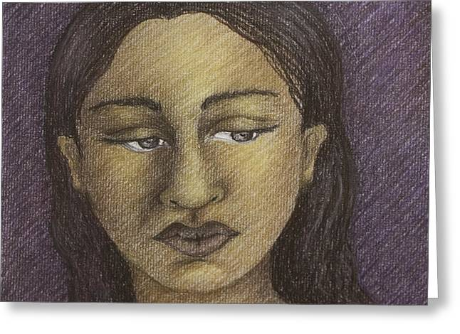 Purple Woman Greeting Card