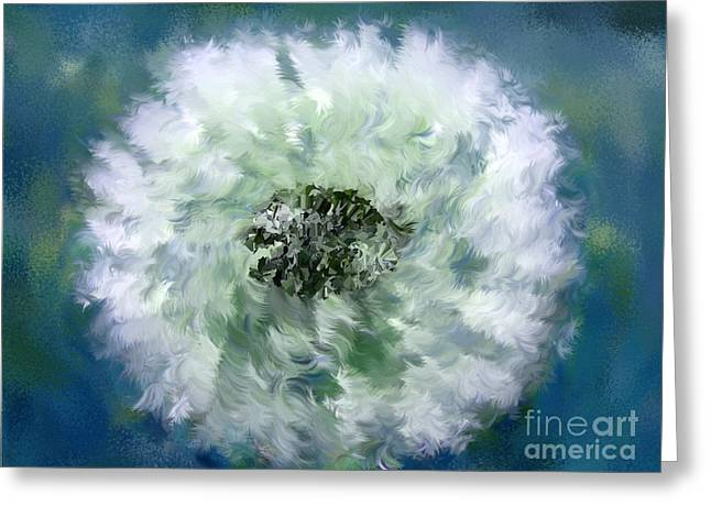 Pursuit Of Happiness Blue White Greeting Card by Holley Jacobs