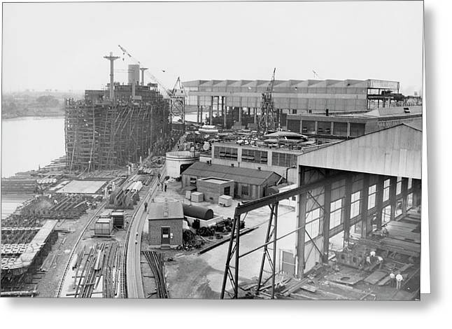 Pusey And Jones Shipyard Greeting Card by Hagley Museum And Archive