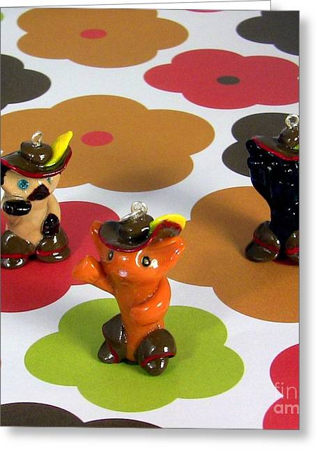 Puss In Boots Animini Necklace Greeting Card by Pet Serrano