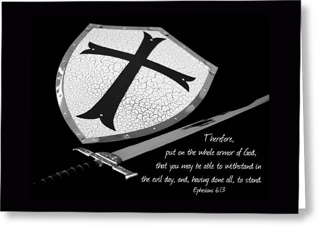 Put On The Armor Ephesians 6 Greeting Card