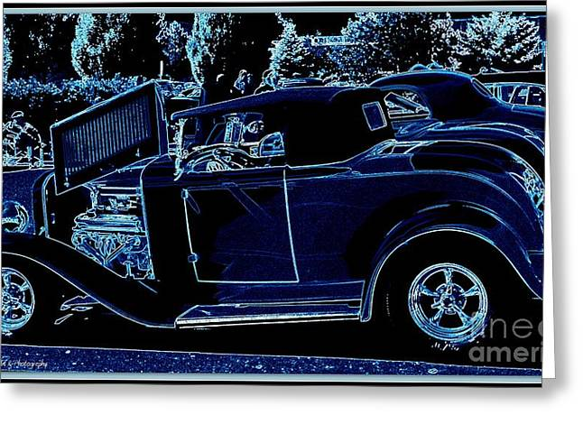 Put The Top Down Greeting Card by Bobbee Rickard