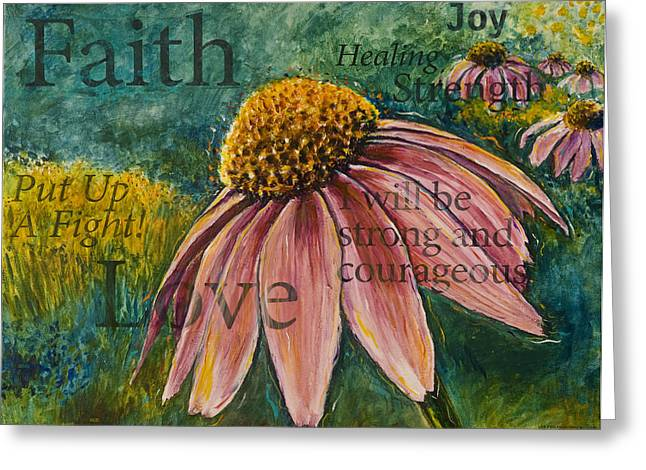 Greeting Card featuring the painting Put Up A Fight by Lisa Fiedler Jaworski