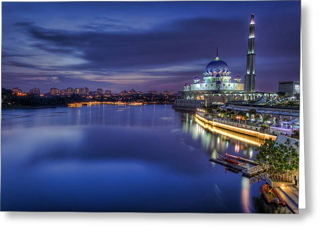 Putra Mosque Greeting Card by Mario Legaspi