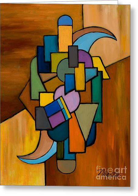 Puzzle IIi Greeting Card by Larry Martin