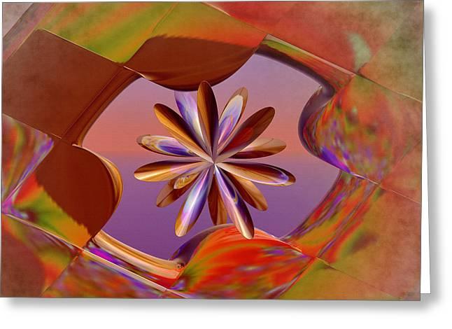 Puzzle Of Life Greeting Card by Deborah Benoit