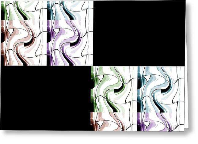 Puzzled 2 Greeting Card by Ann Calvo