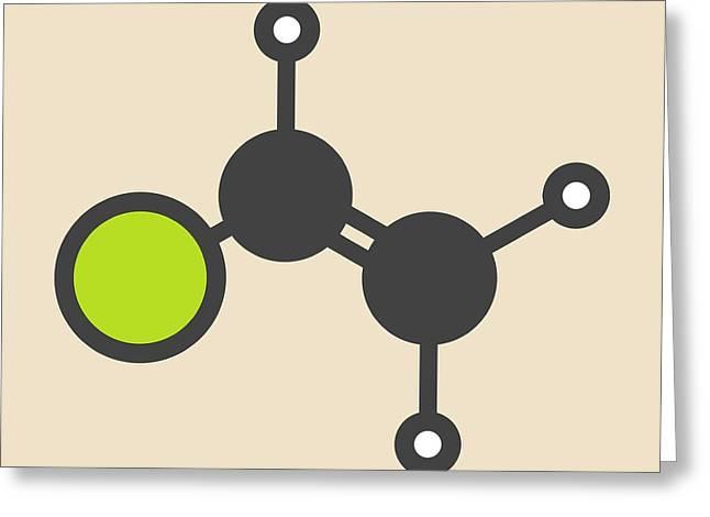 Pvc Building Block Molecule Greeting Card by Molekuul