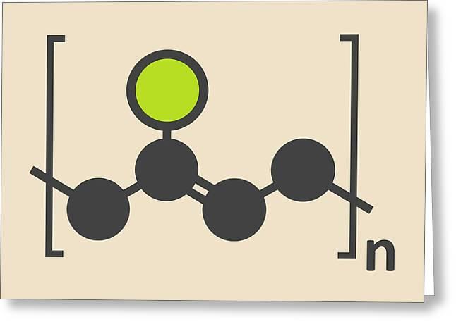 Pvc Plastic Polymer Molecule Greeting Card by Molekuul