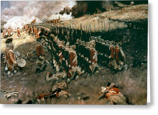Pyle: Battle Of Bunker Hill Greeting Card