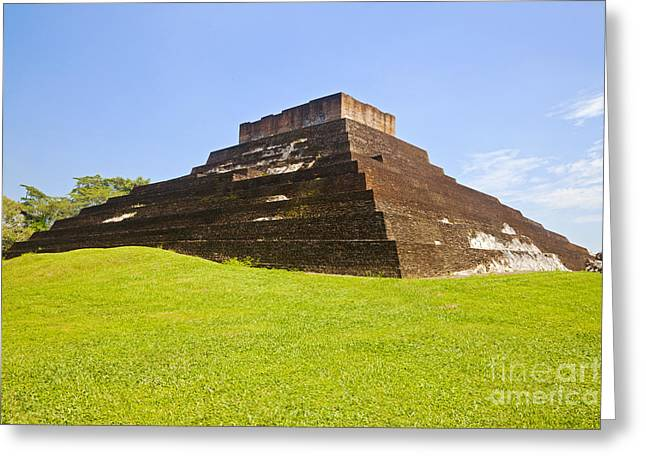 Pyramid At Comalcalco Greeting Card