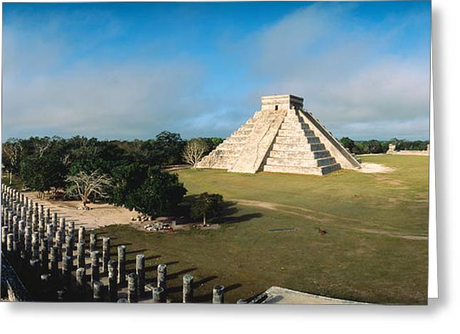 Pyramid Chichen Itza Mexico Greeting Card by Panoramic Images