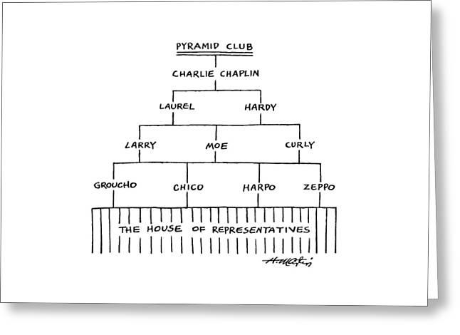 Pyramid Club Greeting Card