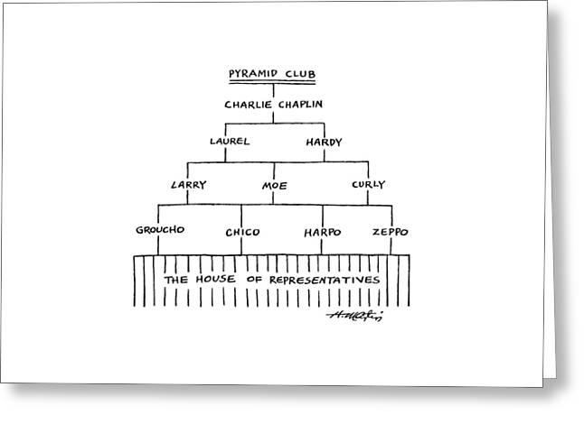 Pyramid Club Greeting Card by Henry Martin