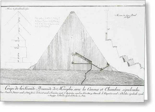 Pyramid Greeting Card by General Research Division/new York Public Library