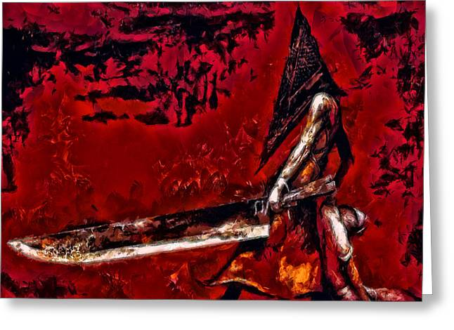 Pyramid Head Greeting Card