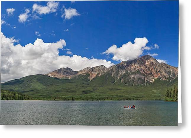 Pyramid Lake And Mountain Greeting Card