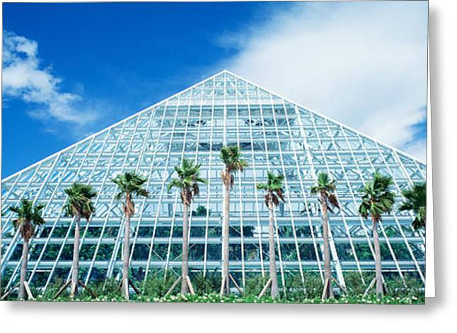 Pyramid, Moody Gardens, Galveston Greeting Card by Panoramic Images
