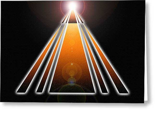 Pyramid Of Light Greeting Card