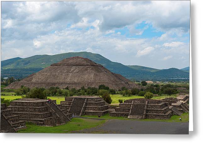 Pyramid Of The Sun As Viewed From Pyramid Of The Moon Mexico Greeting Card