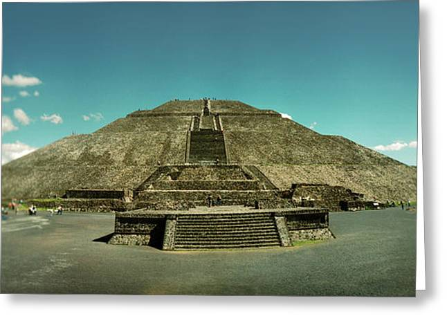 Pyramid Of The Sun In The Teotihuacan Greeting Card