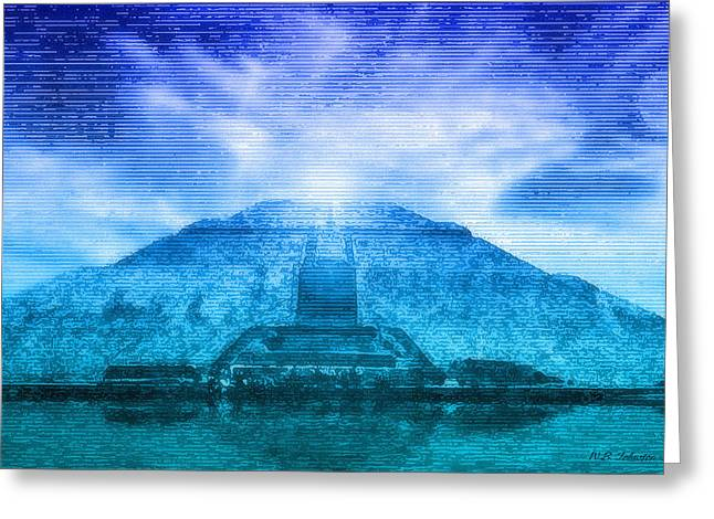 Pyramid Of The Sun Greeting Card by WB Johnston