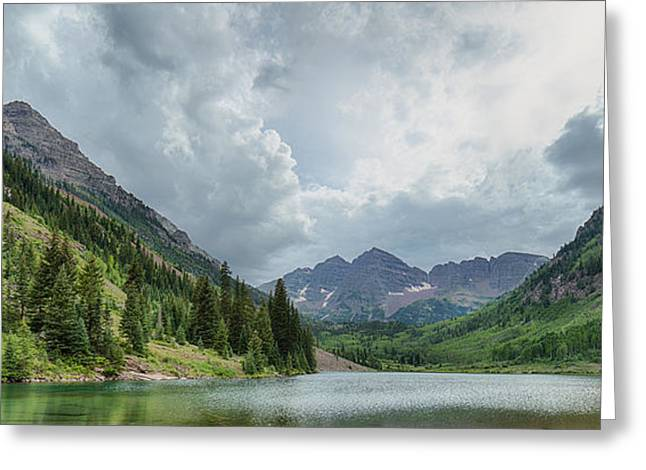 Pyramid Peak And The Maroon Bells Greeting Card by Adam Pender