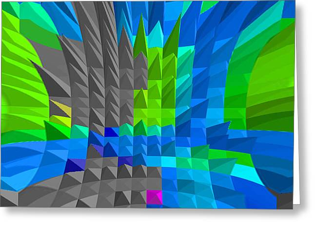 Energy-pyramids Greeting Card by Ramon Labusch