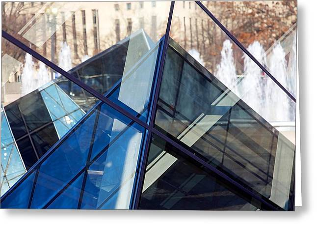 Pyramid Skylights Greeting Card by Stuart Litoff