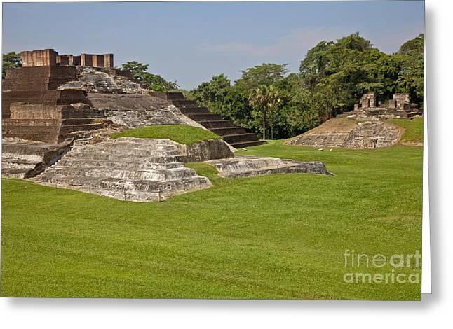 Pyramids At Comalcalco Archeological Greeting Card