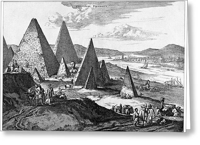 Pyramids Greeting Card