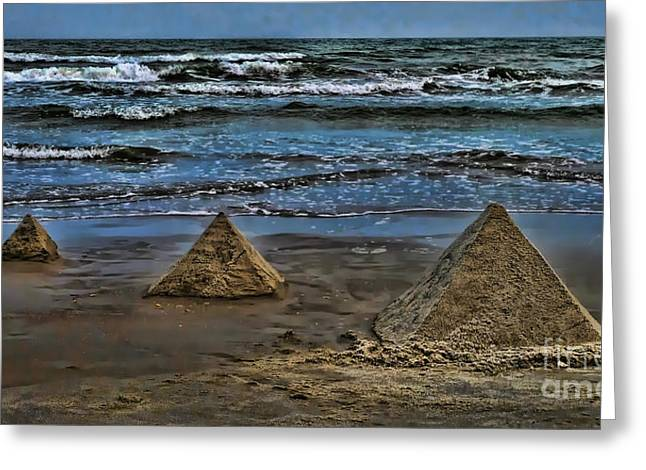 Pyramids Greeting Card by Jeff Breiman