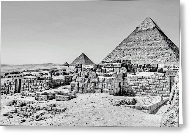 Pyramids  Greeting Card
