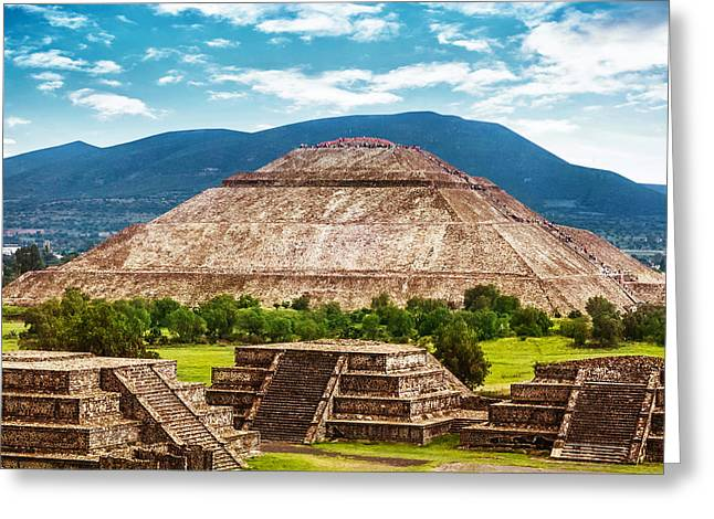Pyramids Of Mexico Greeting Card