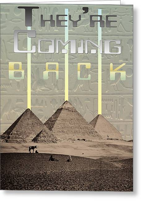 Pyramids Ufo Landing Site Greeting Card by