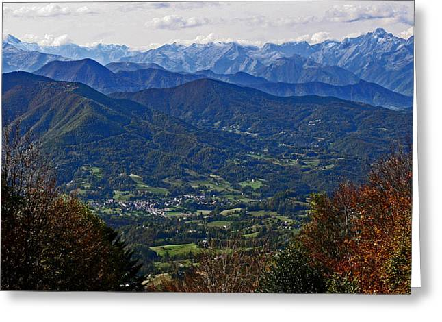 Pyrenean View Greeting Card
