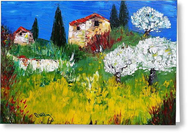 Pyrenees Farm  Greeting Card