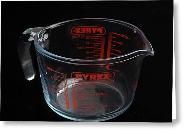 Pyrex Jug Greeting Card by Science Photo Library