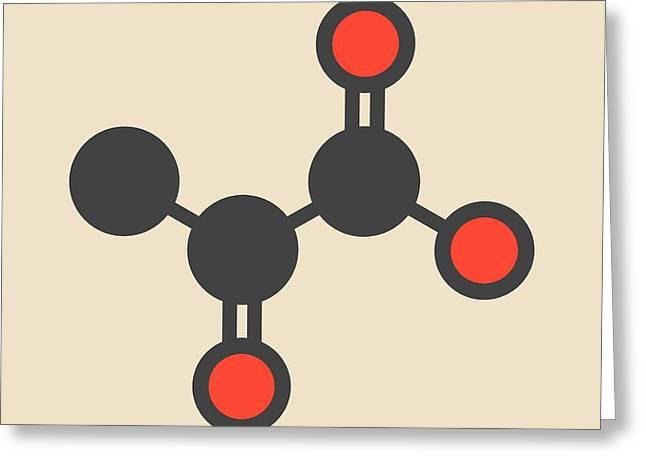 Pyruvic Acid Molecule Greeting Card by Molekuul