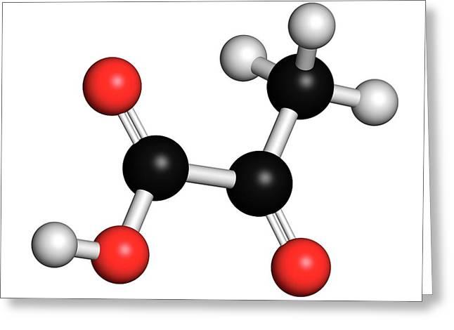 Pyruvic Acid Pyruvate Molecule Greeting Card by Molekuul